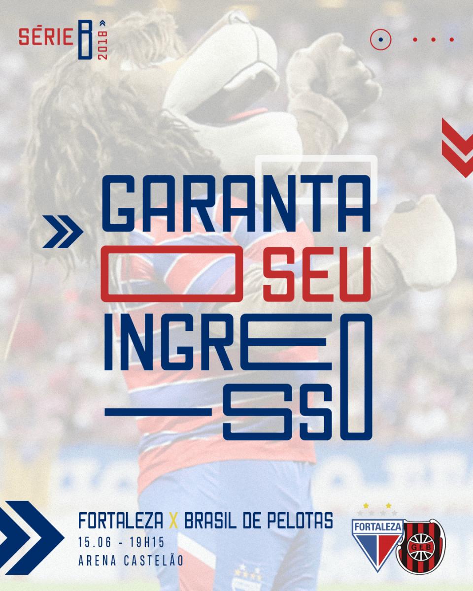 Ingressos disponíveis para Fortaleza x Brasil de Pelotas, dia 15