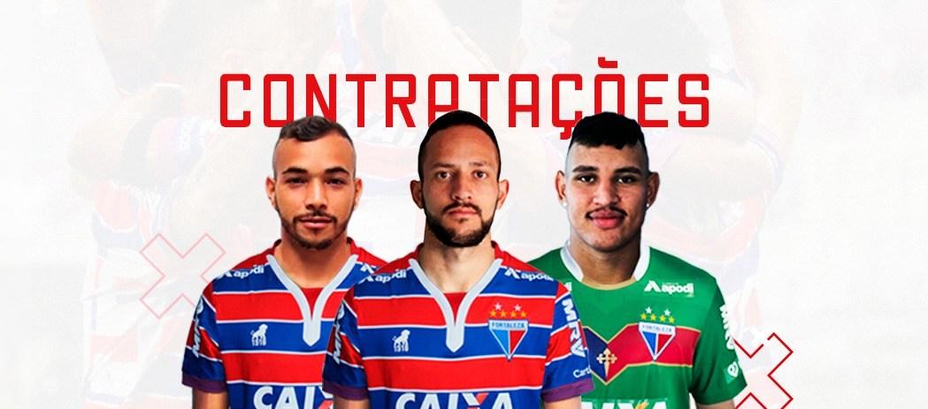Fortaleza oficializa a contratação de goleiro, lateral-direito e atacante