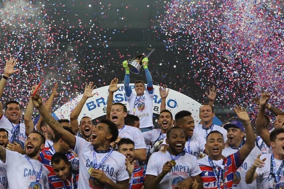 Fortaleza vence Juventude em festa da entrega da taça de campeão brasileiro