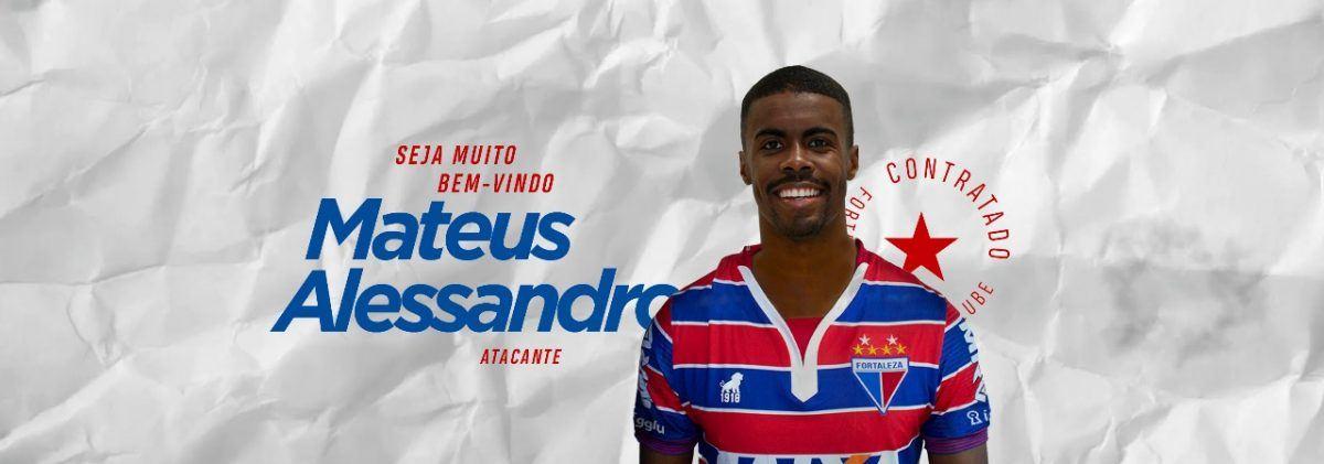 Fortaleza anuncia a contratação do atacante Matheus Alessandro