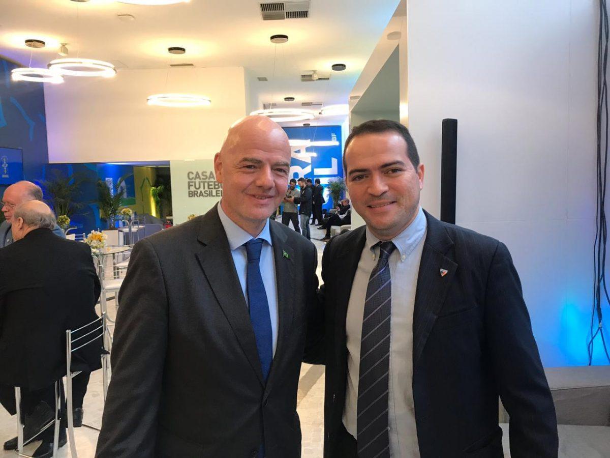 Presidente Marcelo Paz participa de posse de Rogério Caboclo