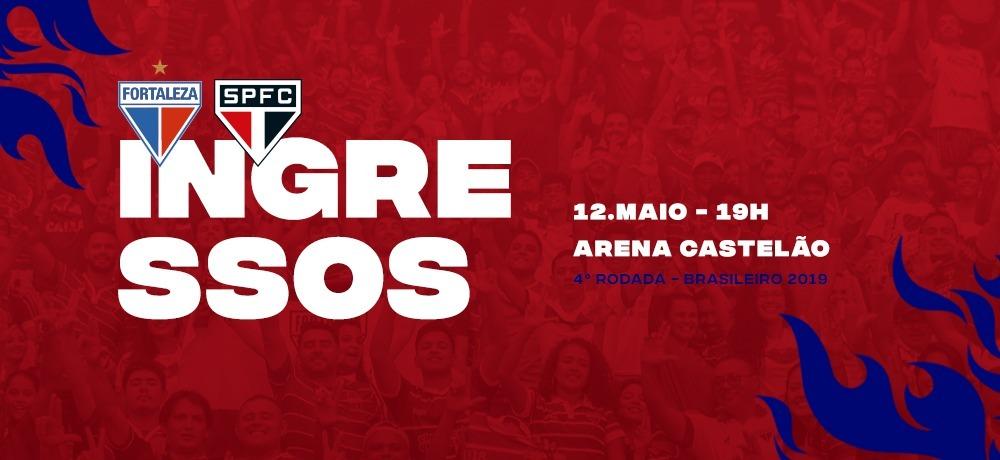 Ingressos disponíveis para Fortaleza x São Paulo