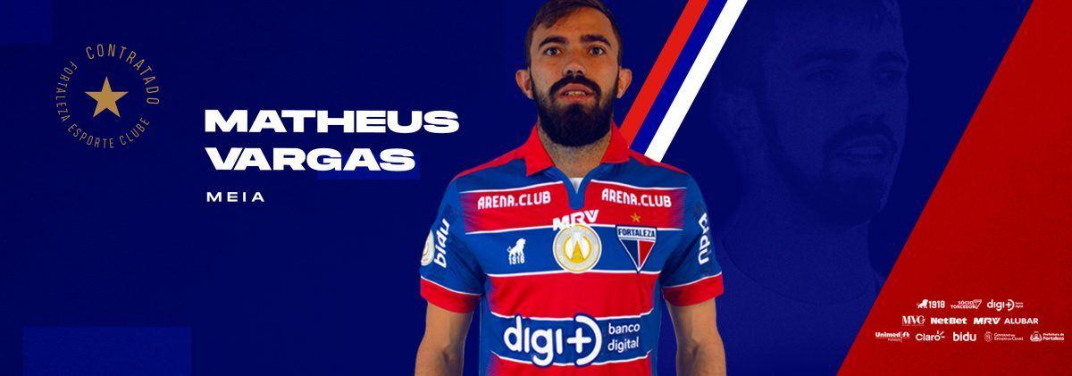 Fortaleza oficializa a contratação do meia Matheus Vargas
