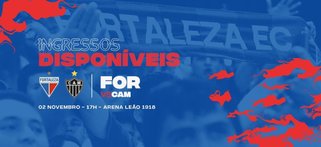 Ingressos disponíveis para Fortaleza x Atlético-MG