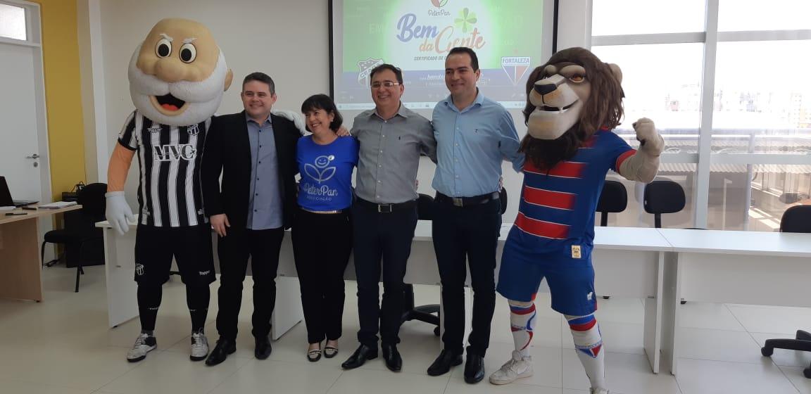 Fortaleza é parceiro da Associação Peter Pan em novo projeto de captação de recursos