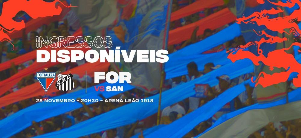 Ingressos disponíveis para Fortaleza x Santos