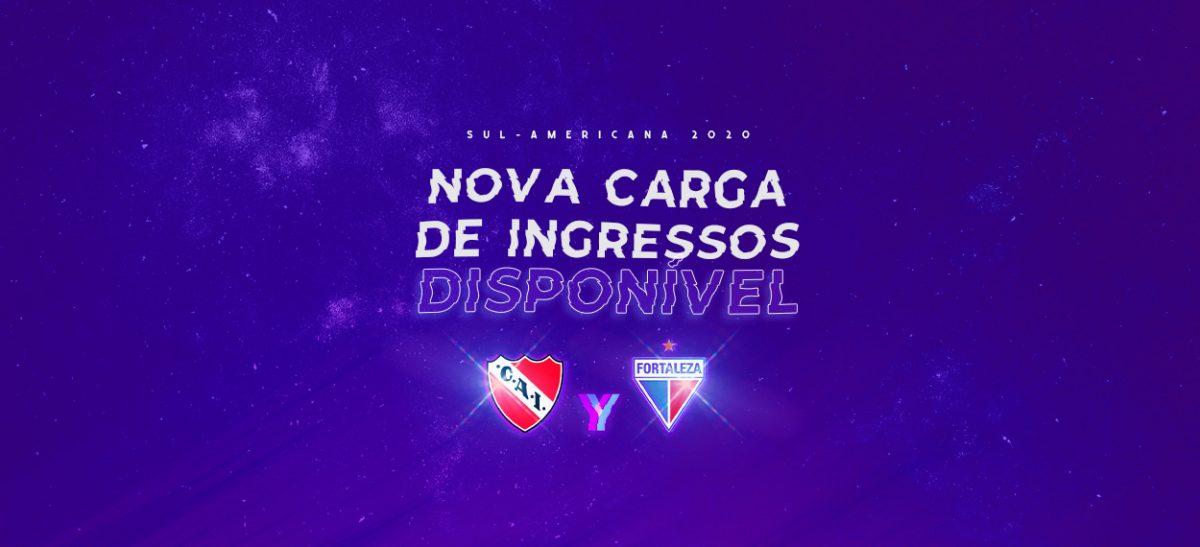 Nova carga de ingressos para Independiente x Fortaleza