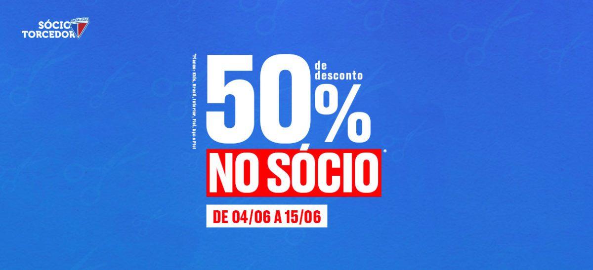 Fortaleza faz mais uma promoção com 50% de desconto na adesão ao sócio torcedor