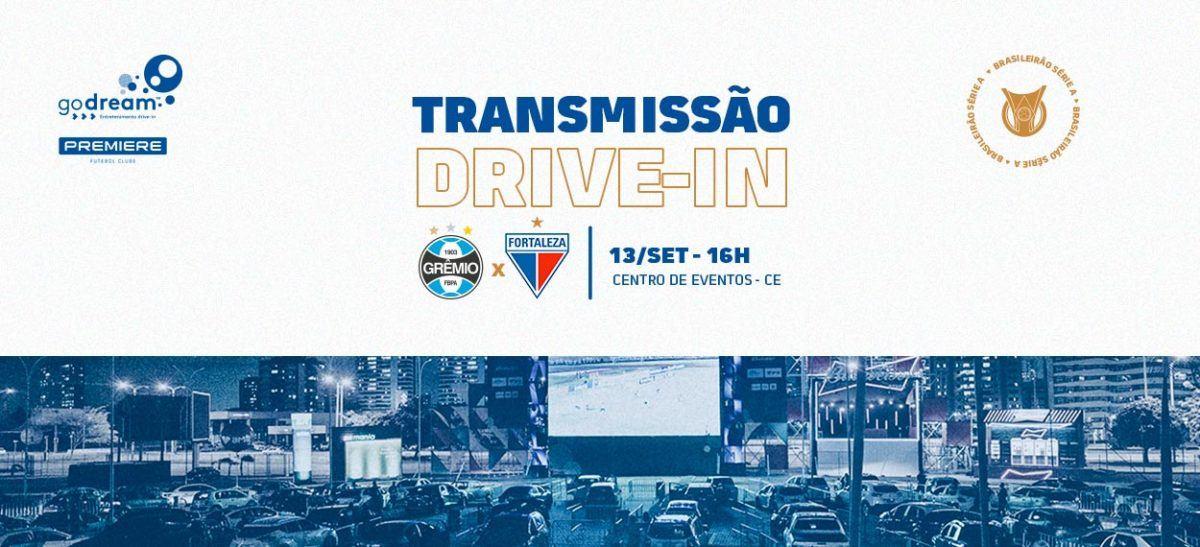 Acompanhe Grêmio x Fortaleza no Drive-in. Ingressos já disponíveis!